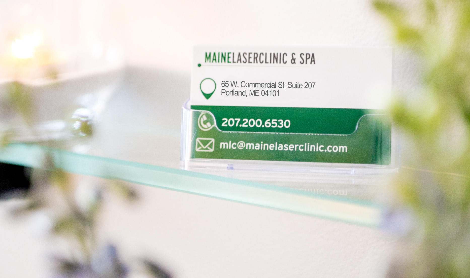 Maine Laser Clinic Business card